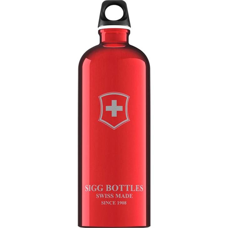 1.0 L Swiss Emblem bidón de agua 1000 ml Rojo, Botella de agua