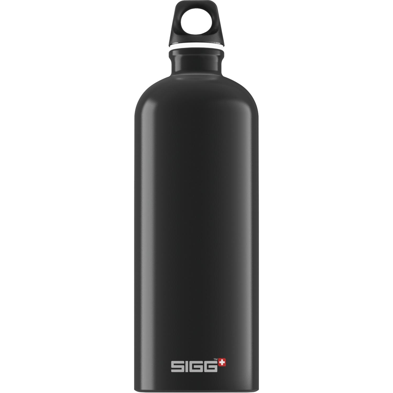1.0 L Traveller 1000ml Negro bidón de agua, Botella de agua