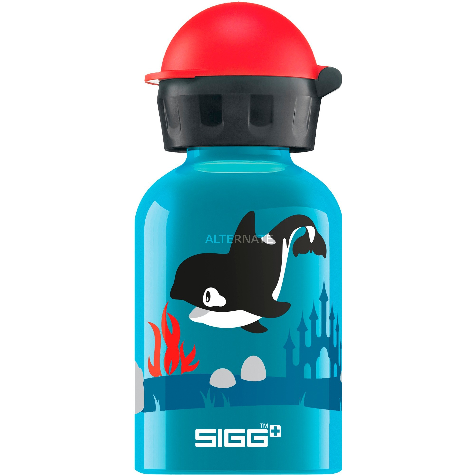 Alu Orca Family 0,3 L, Botella de agua