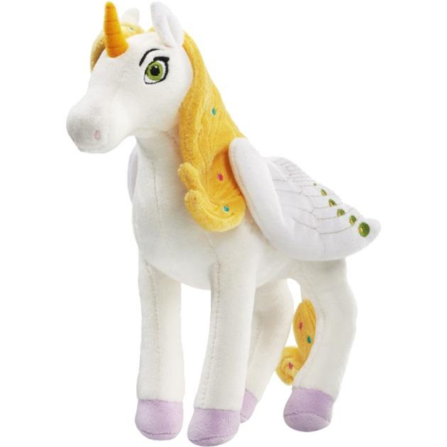 42240 juguete de peluche Unicornio Blanco, Amarillo Felpa, Muñecos