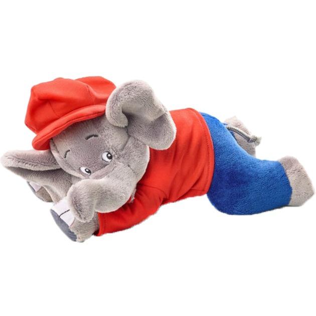 42250 juguete de peluche Elefante Azul, Gris, Rojo Felpa, Peluches