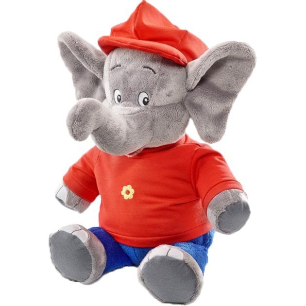 42251 juguete de peluche Elefante Azul, Gris, Rojo Felpa, Peluches