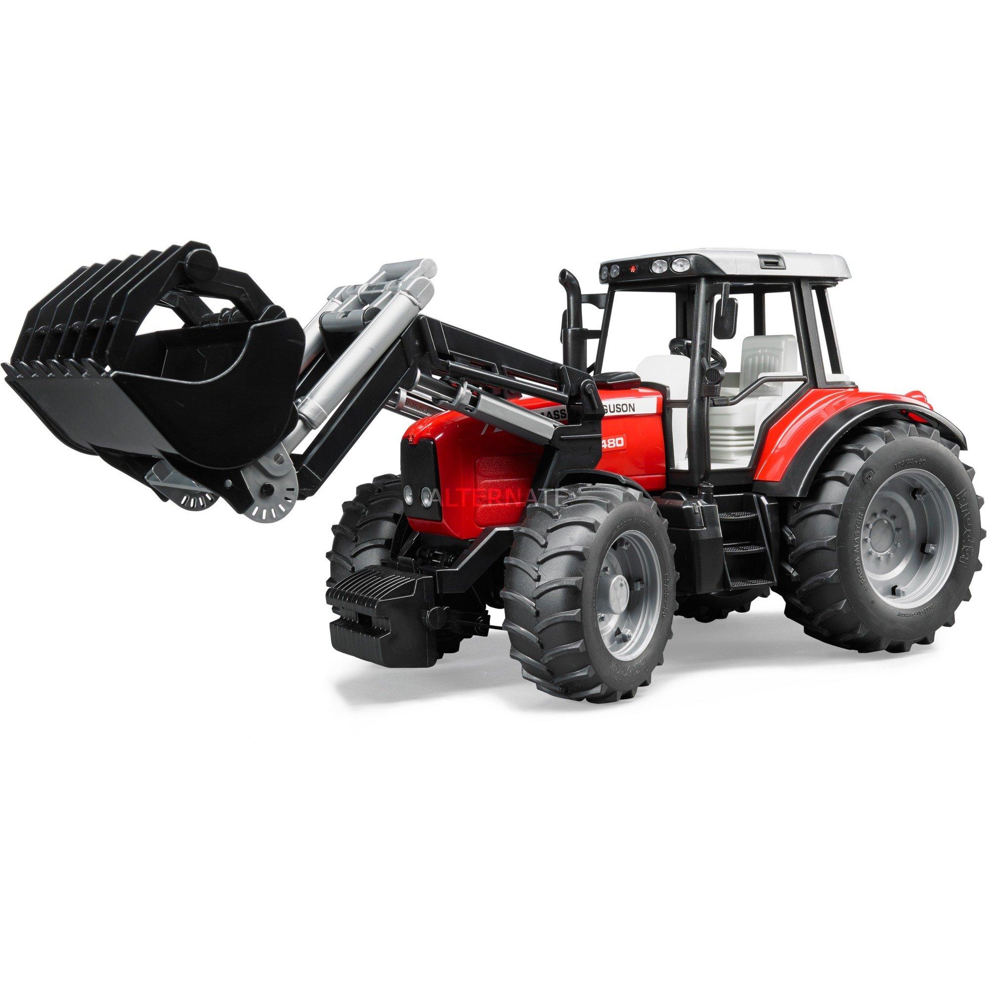 02042 modelo de vehículo de tierra Previamente montado Modelo a escala de tractor 1:16, Automóvil de construcción