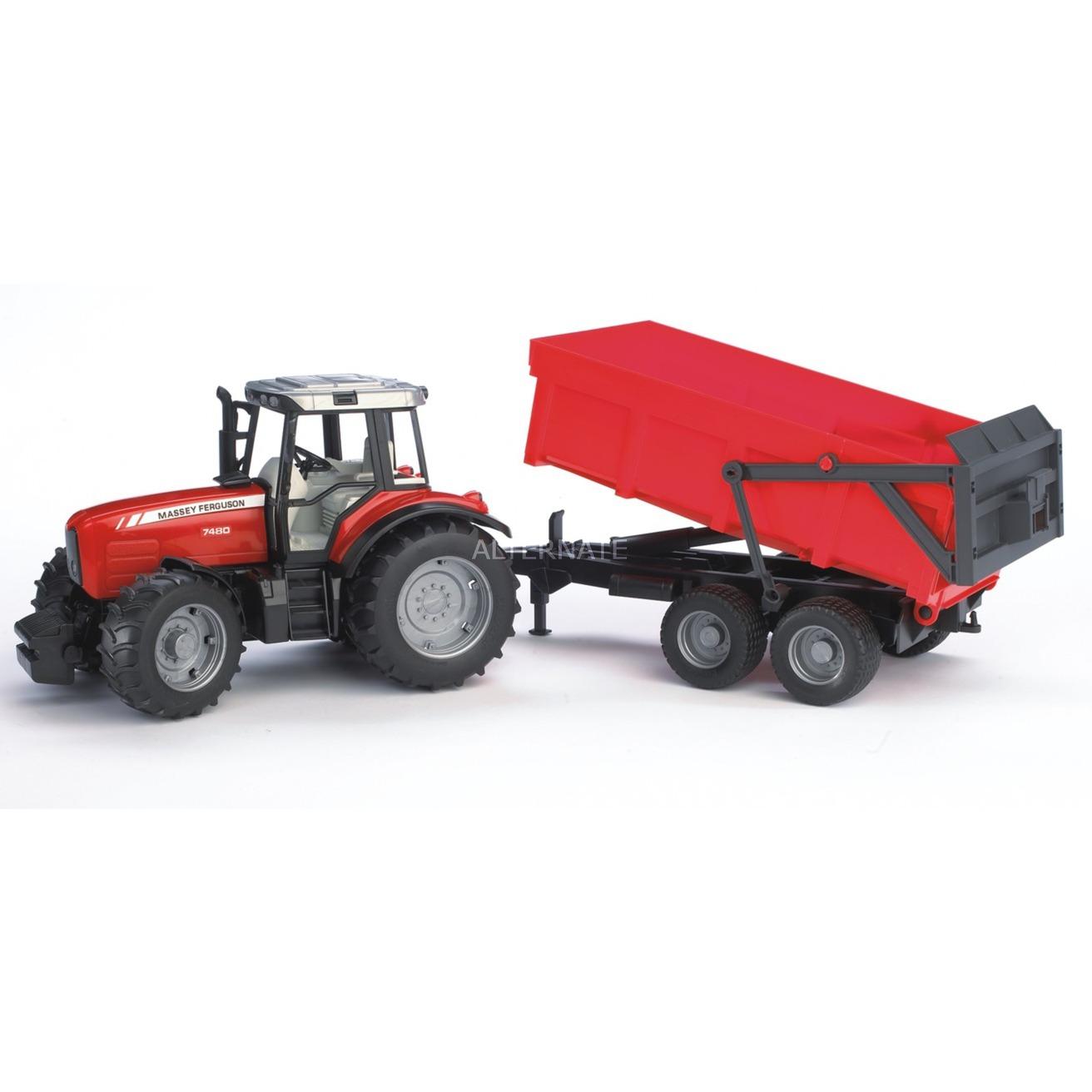 02045 modelo de vehículo de tierra Previamente montado Modelo a escala de tractor 1:16, Automóvil de construcción