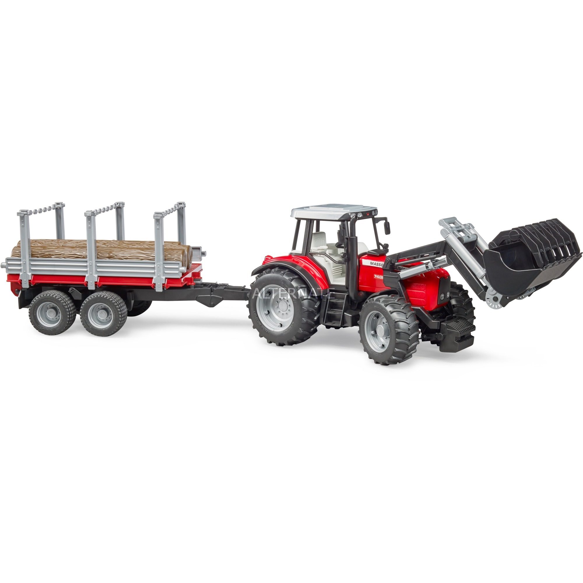 02046 modelo de vehículo de tierra Previamente montado Modelo a escala de tractor 1:16, Automóvil de construcción