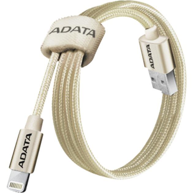 1m, USB 2.0-A/Lightning 1m USB A Lightning Oro cable de teléfono móvil