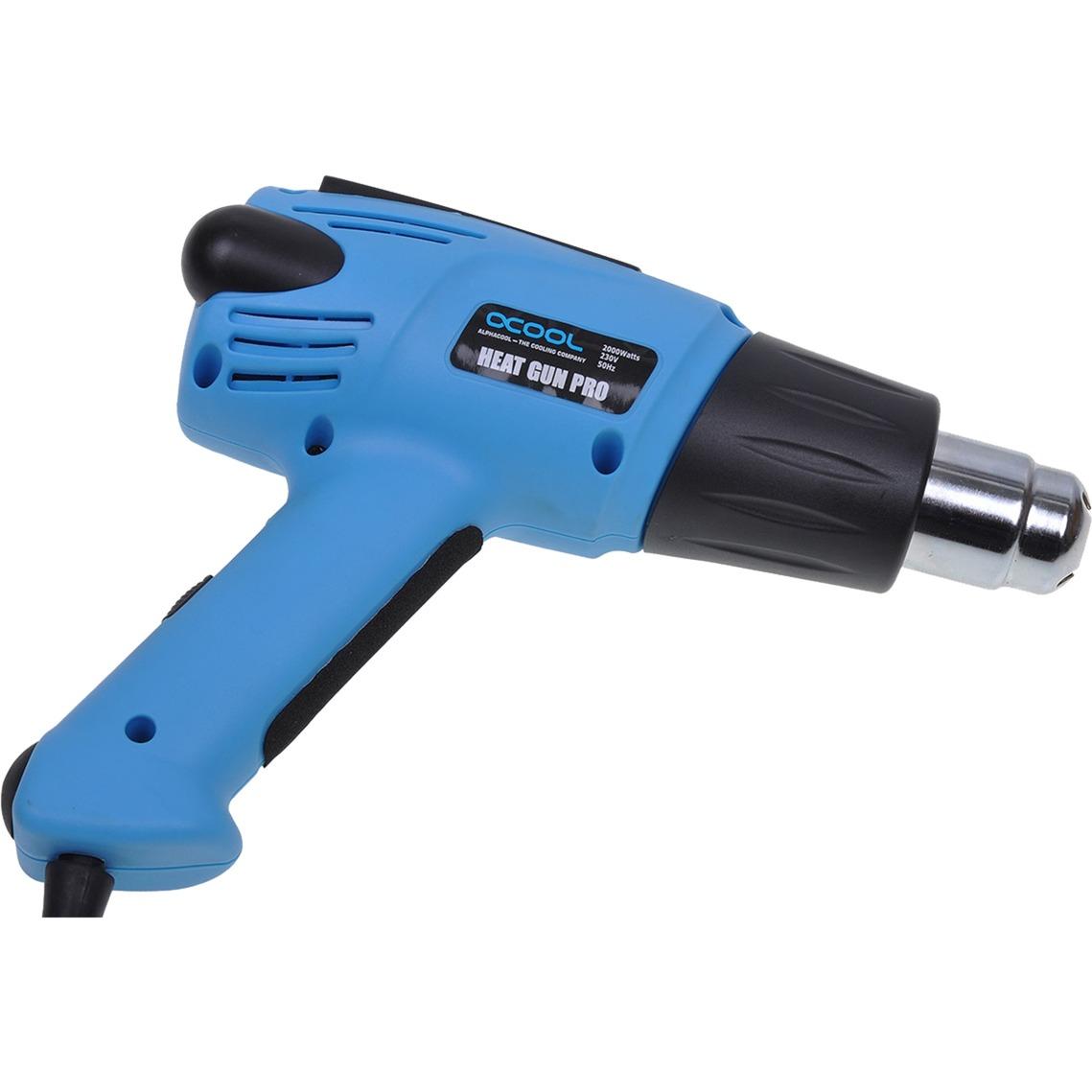 29111 pistola de calor eléctrica 600 l/min Negro, Azul 2000 W, Decapador por aire caliente