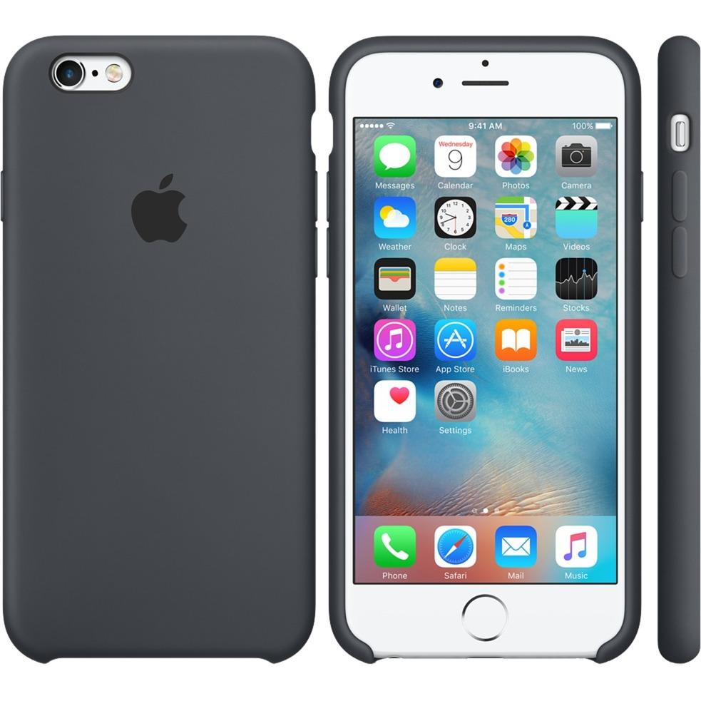 Funda Silicone Case para el iPhone 6s - Gris carbón, Funda protectora