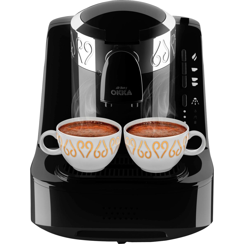 Okka Independiente Cafetera turca Negro, Plata 0,95 L Manual, Cafetera de moka
