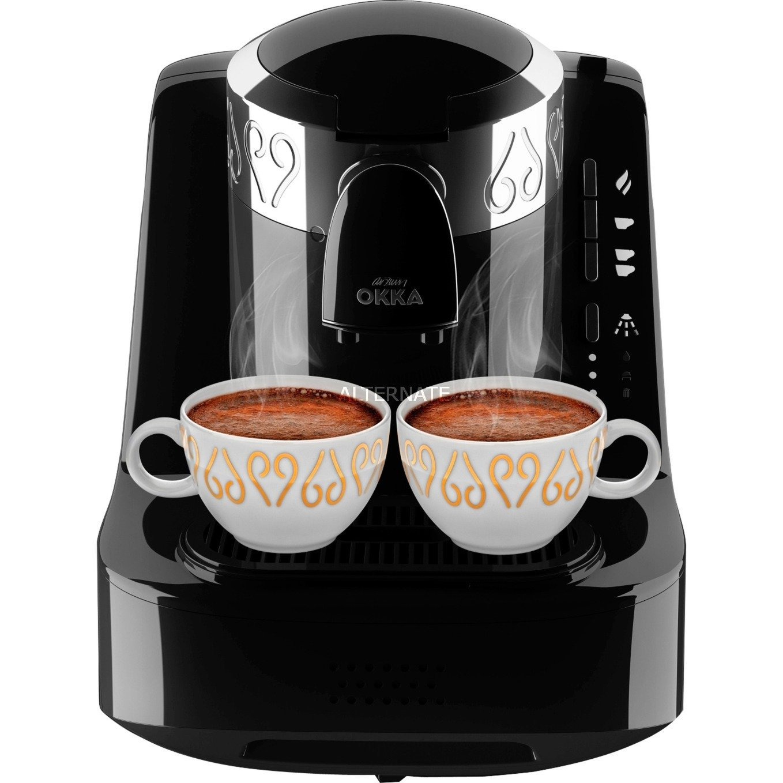 Okka Independiente Manual Cafetera turca 0.95L Negro, Plata, Cafetera espresso