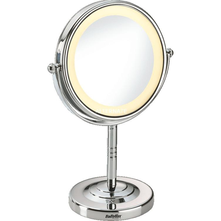 8435E Acero inoxidable espejo para maquillaje, Espejo de aumento