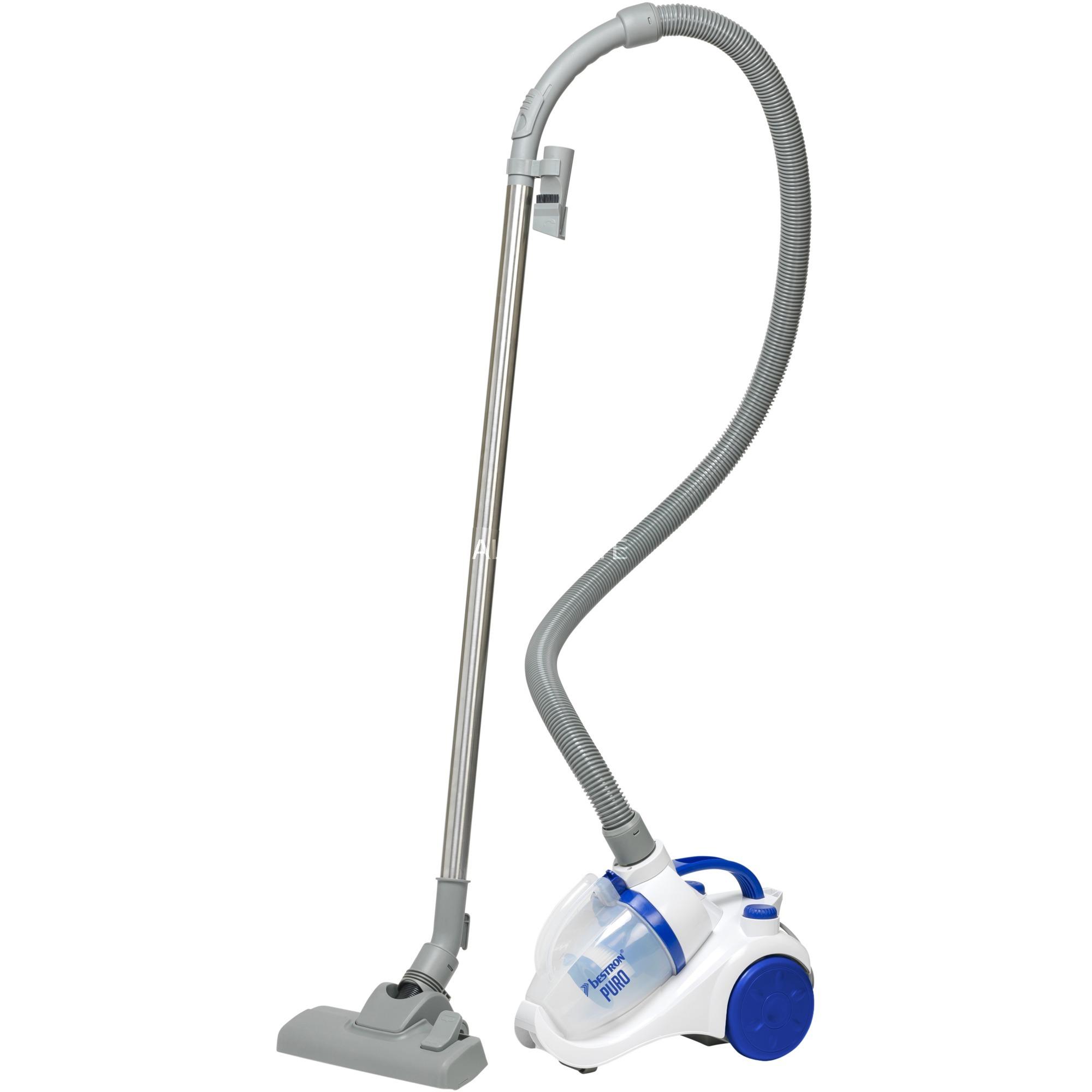 ABL830WB aspiradora 700 W A Aspiradora cilíndrica 1 L Azul, Blanco, Aspiradora de suelo