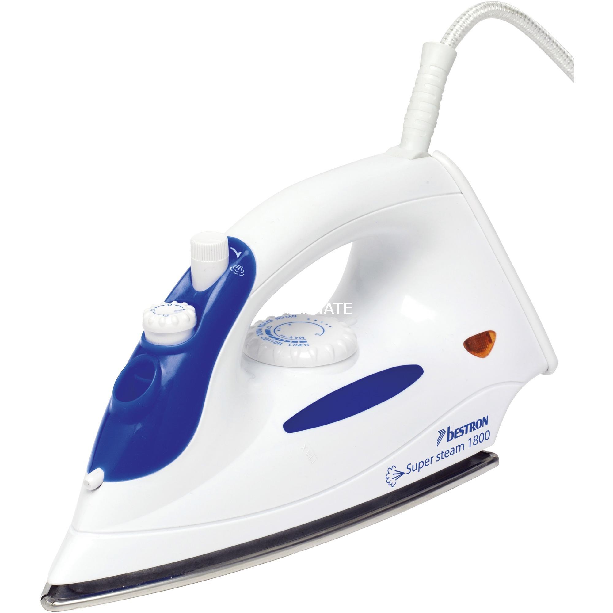 AEA6088 1800W Azul, Color blanco plancha, Plancha a vapor
