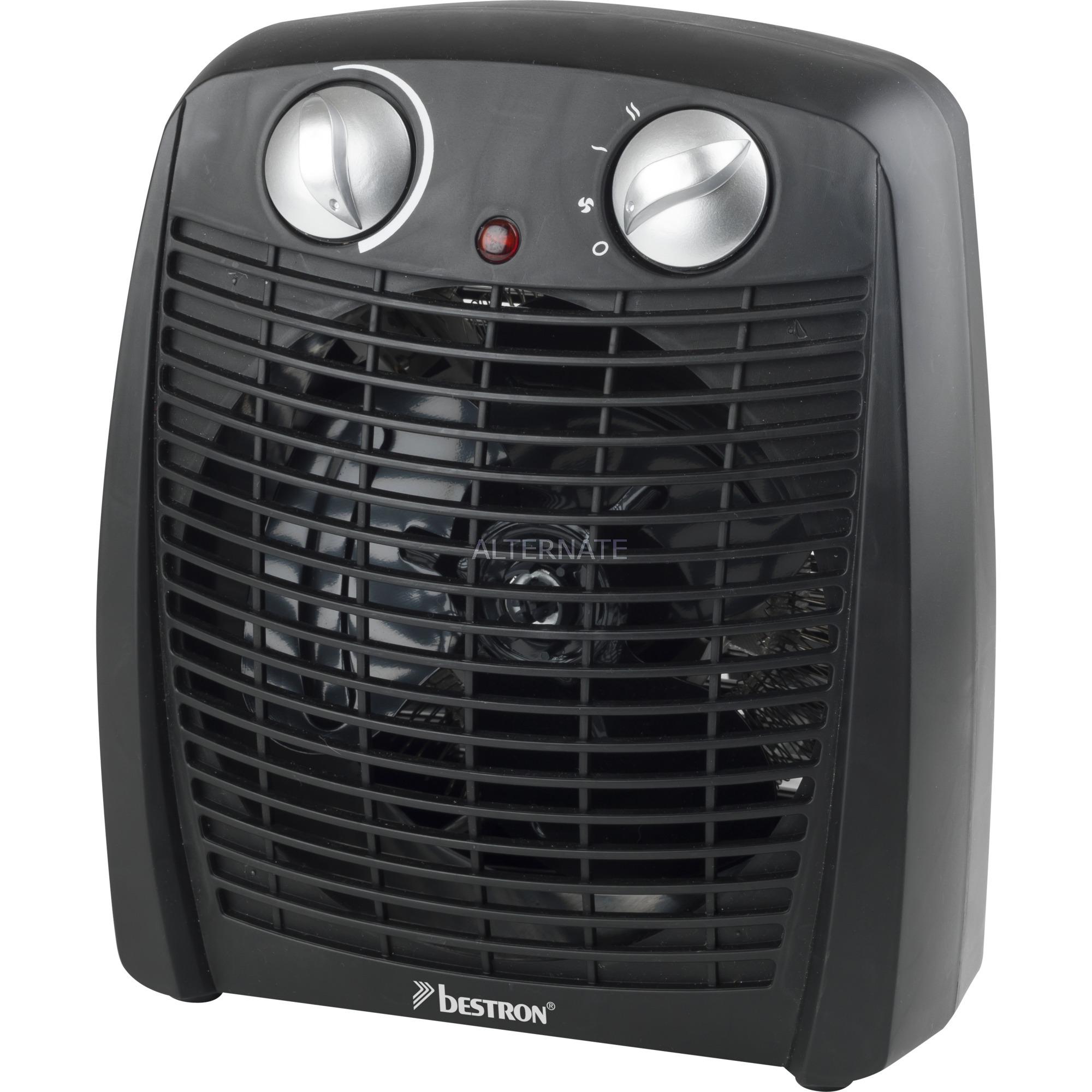 AFH211B calefactor eléctrico Calentador de ventilador Interior Negro 2000 W, Termoventiladores