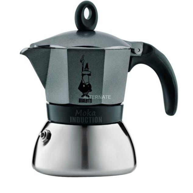 4823 Negro, Gris, Acero inoxidable cafetera italiana, Cafetera espresso