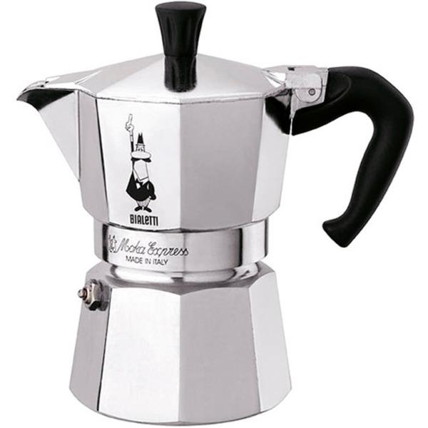 Moka Express 0.2L Aluminio, Negro, Cafetera espresso
