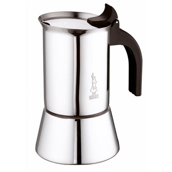 Venus Negro, Acero inoxidable, Cafetera espresso