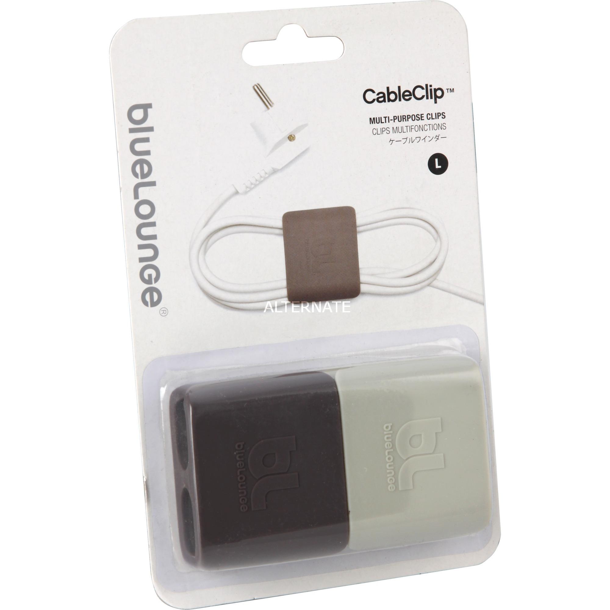 CableClip Gris abrazadera para cable, Fijación/Instalación