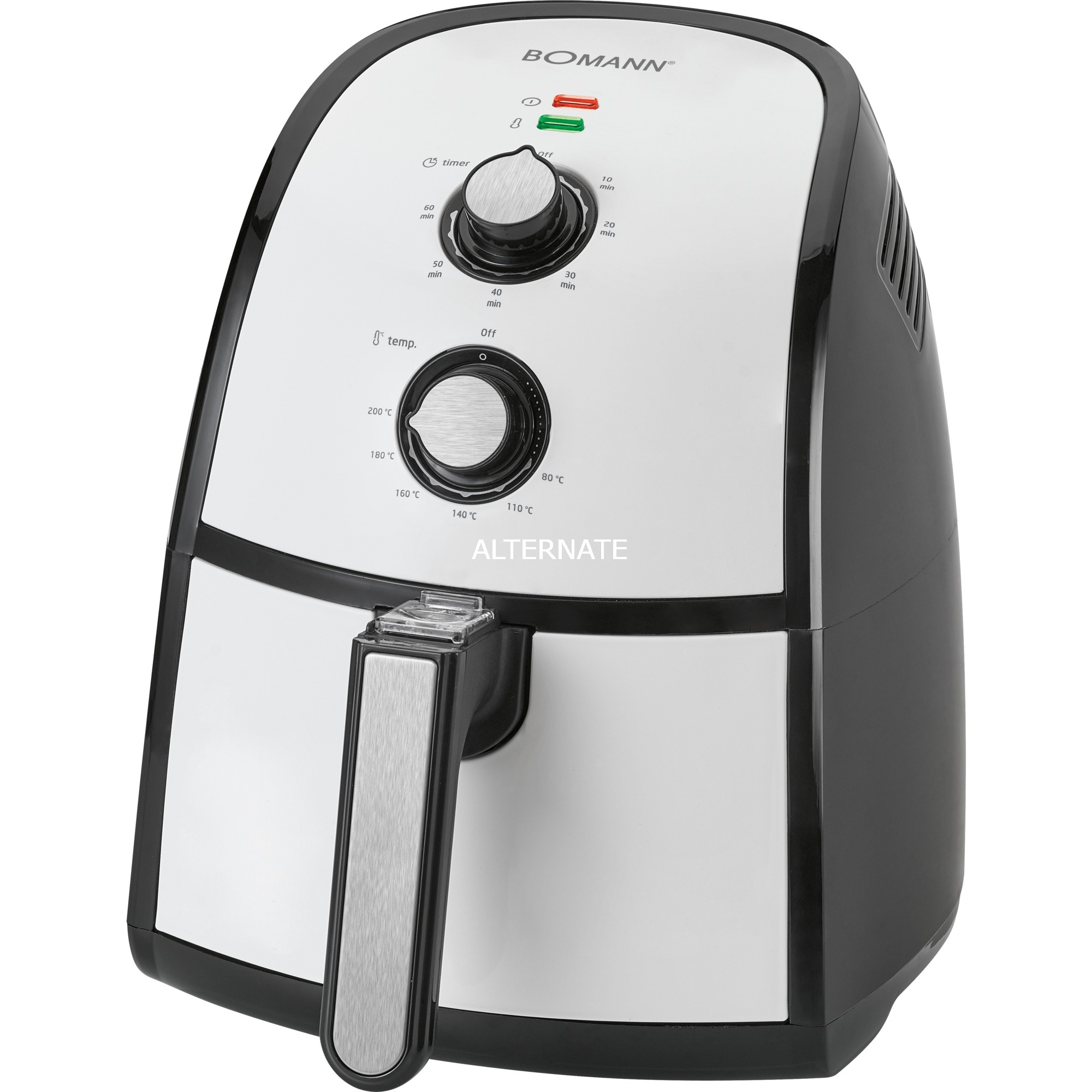 FR 2301 H CB Solo Independiente Hot air fryer 2.2L 1500W Negro, Plata, Freidora