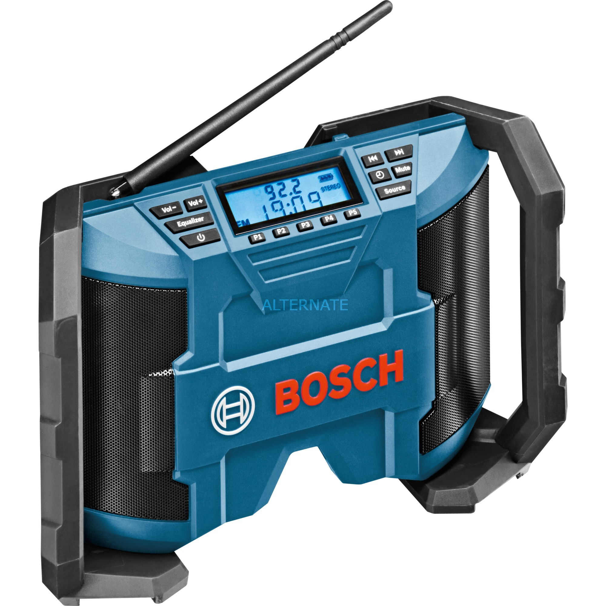 0 601 429 200 radio Worksite Digital Negro, Azul