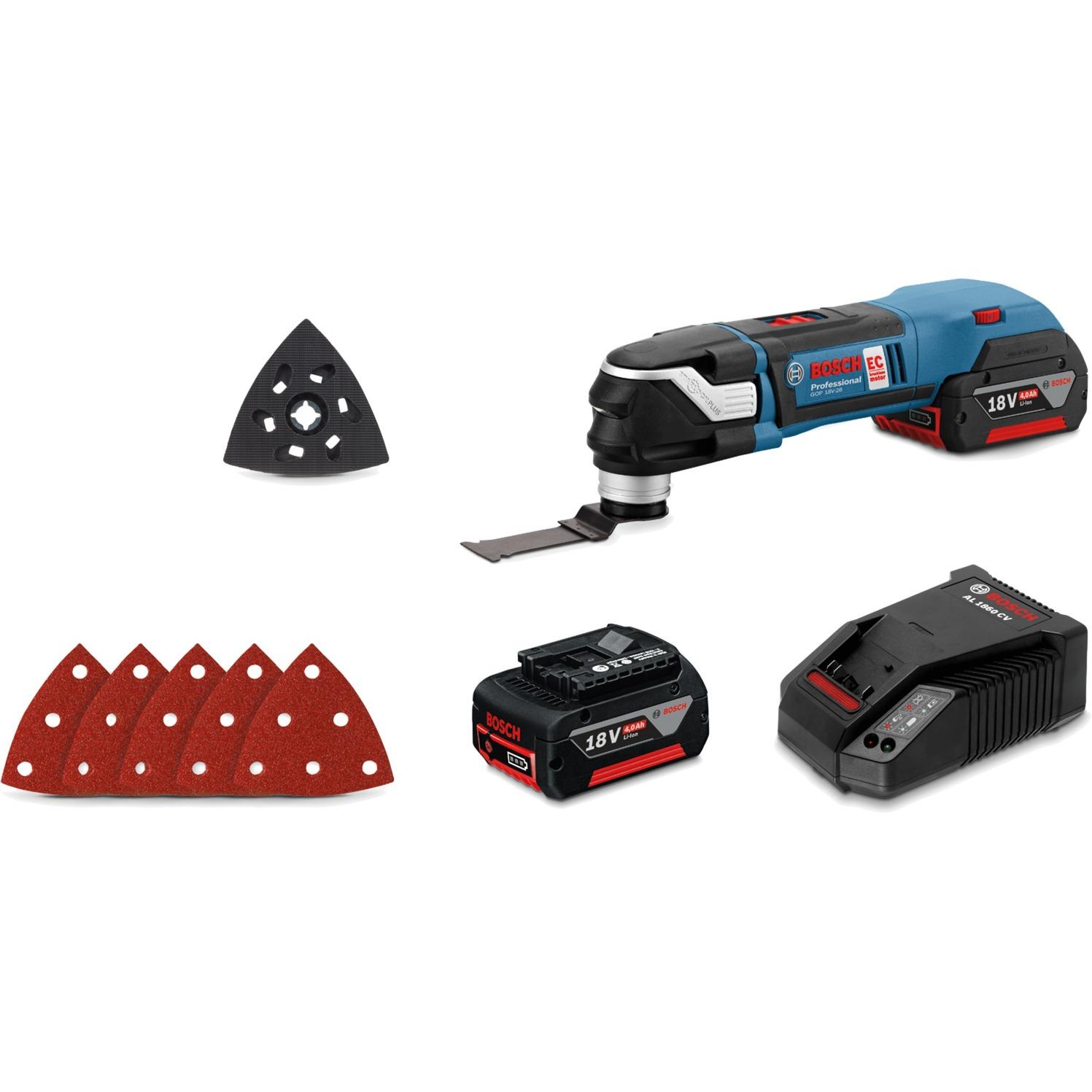 0 601 8B6 003 multiherramienta eléctrica 8000 RPM Negro, Azul, Herramienta multifunción