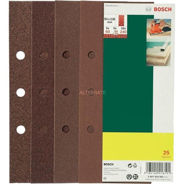 2 607 019 501 accesorio para lijadora 25 pieza(s), Hoja de lija