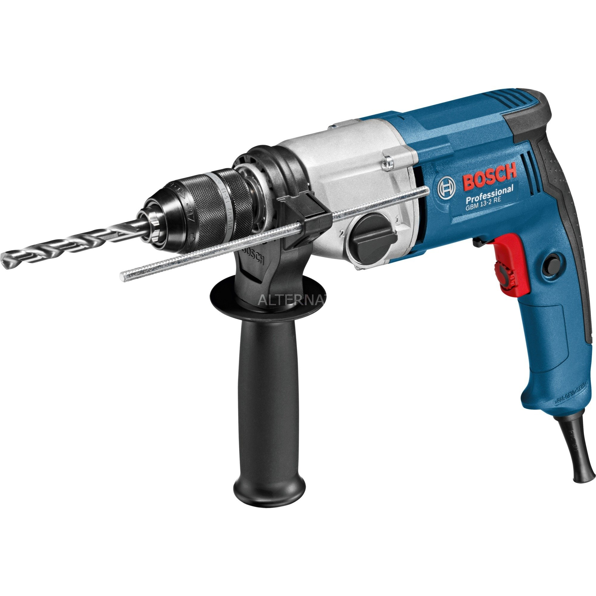 GBM 13-2 RE Professional taladro eléctrico Negro, Azul, Acero inoxidable 3000 RPM 750 W 2,4 kg