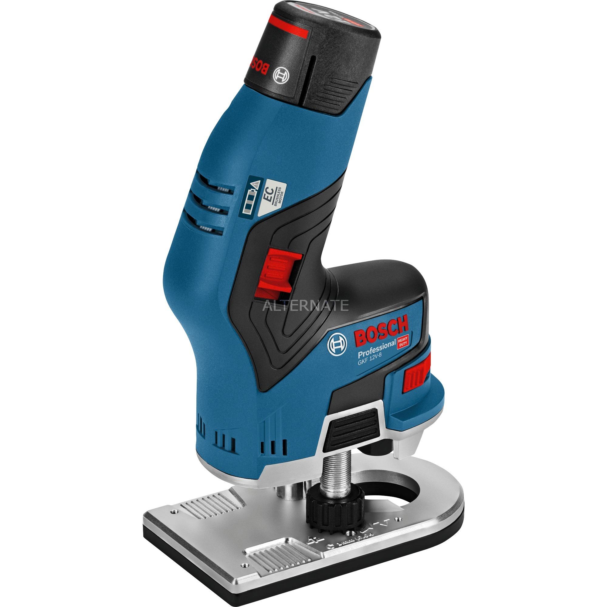 GKF 12V-8 Professional amoladora recta 13000 RPM Negro, Azul, Rojo, Fresadoras