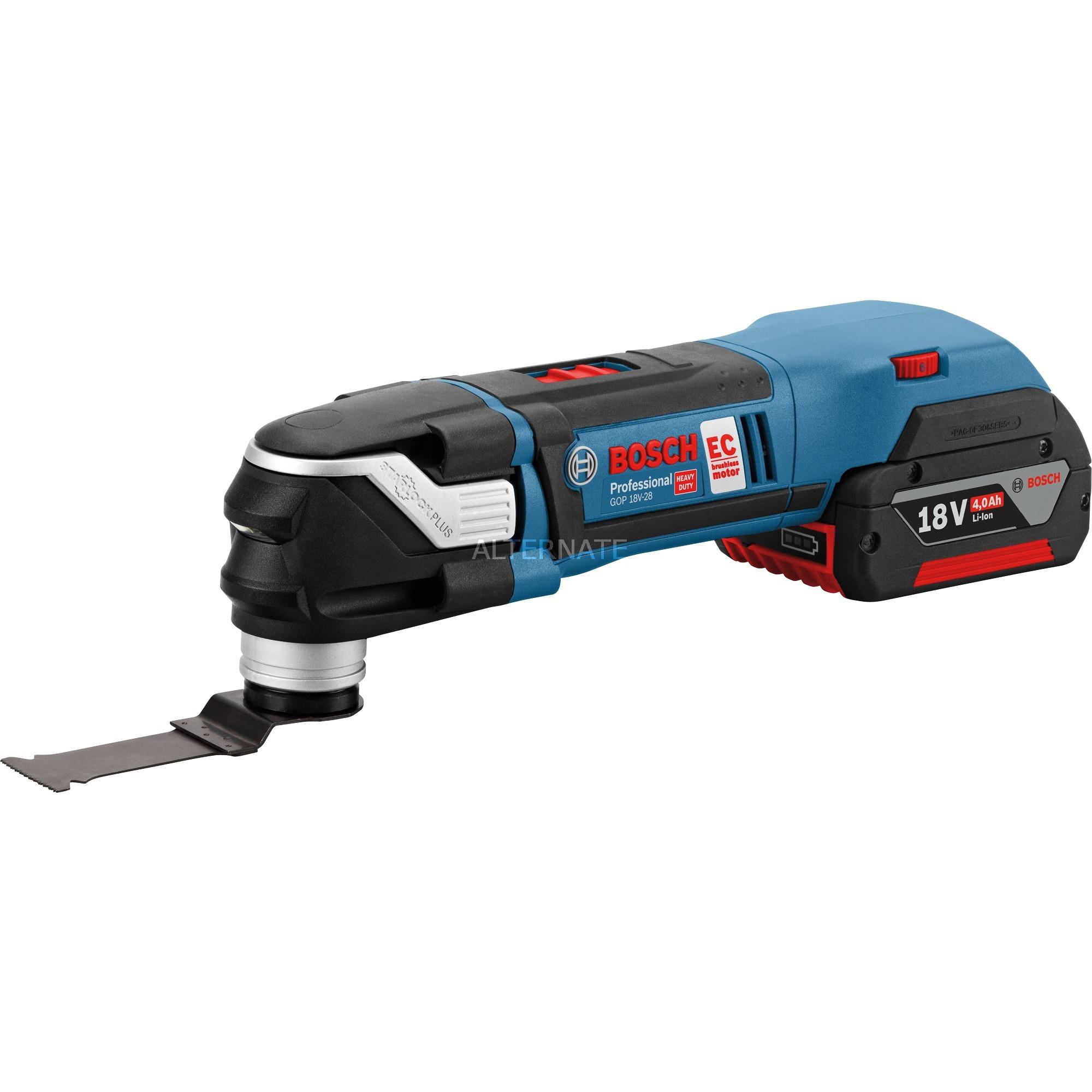 GOP 18V-28 Professional 18V Ión de litio Negro, Azul, Rojo cortador universal inalámbrico, Herramienta multifunción