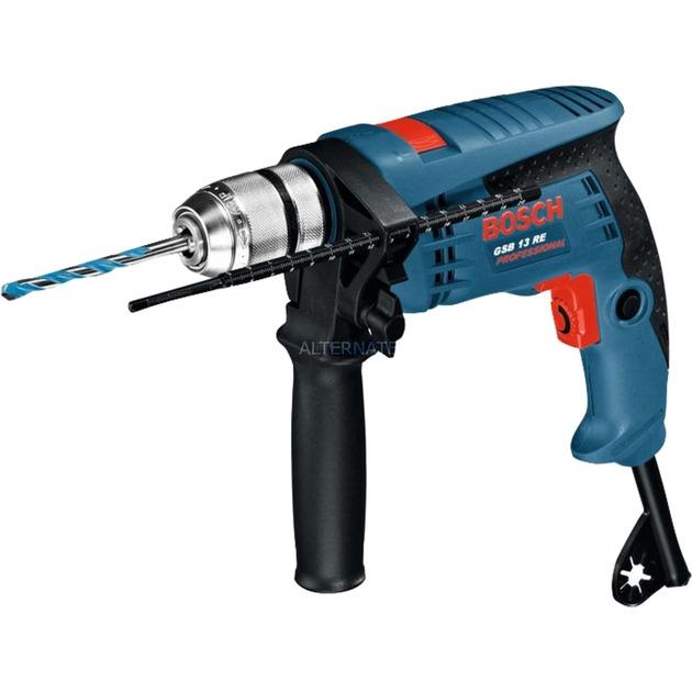 GSB 13 RE taladro eléctrico Sin llave 2800 RPM 600 W 1,8 kg, Taladradora de impacto