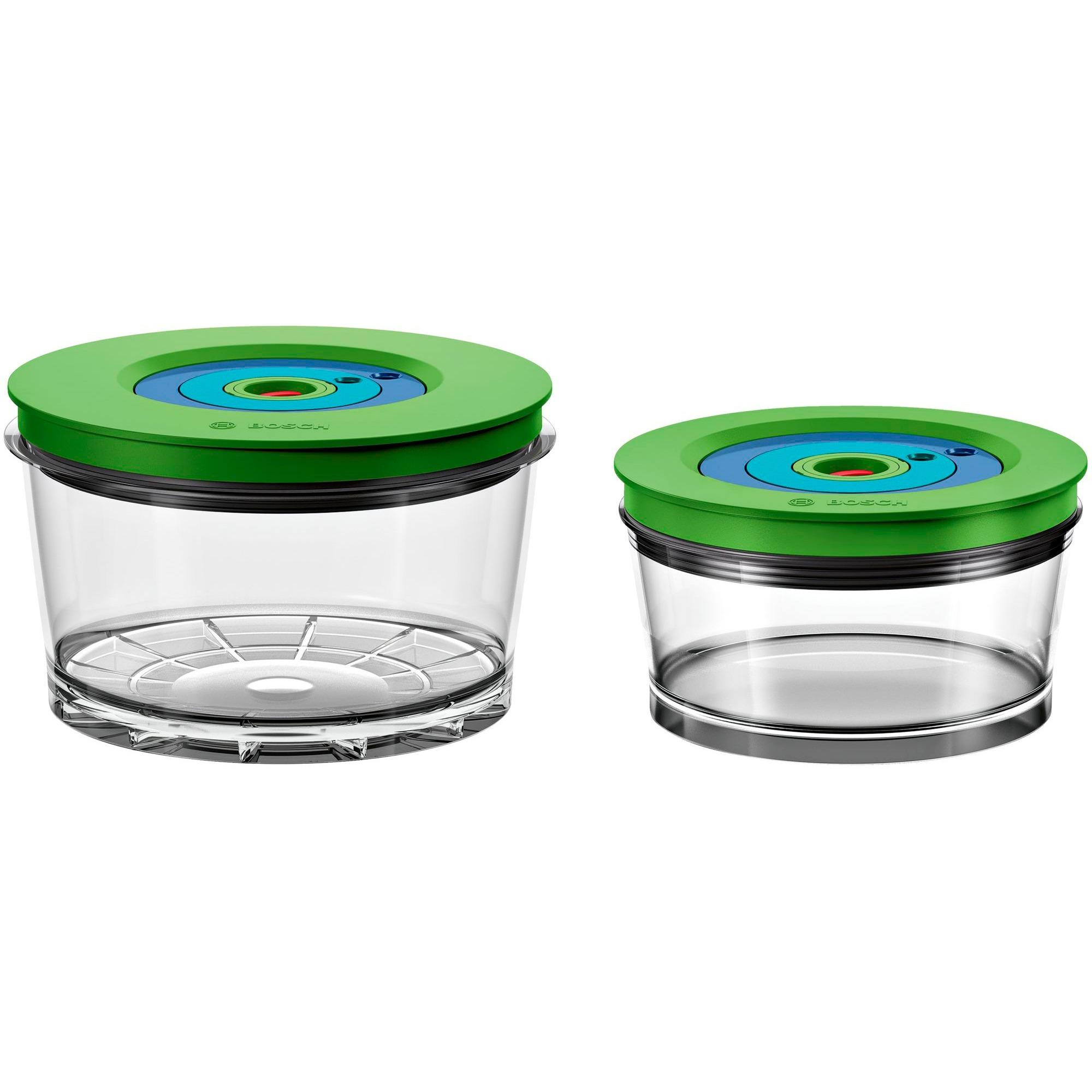 MMZV0SB2 recipiente de almacenar comida Caja Alrededor Verde, Transparente 2 pieza(s), Cuenco