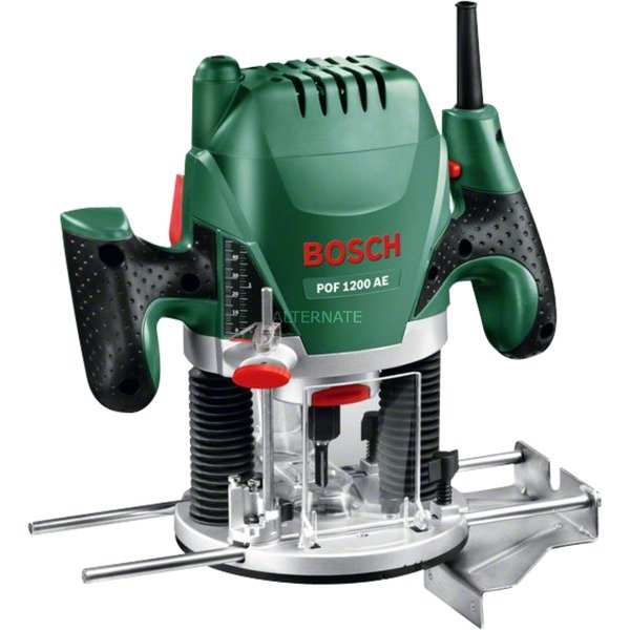 POF 1200 AE 11000 - 28000RPM 1200W Negro, Verde, Rojo, Plata router eléctrico, Fresadora