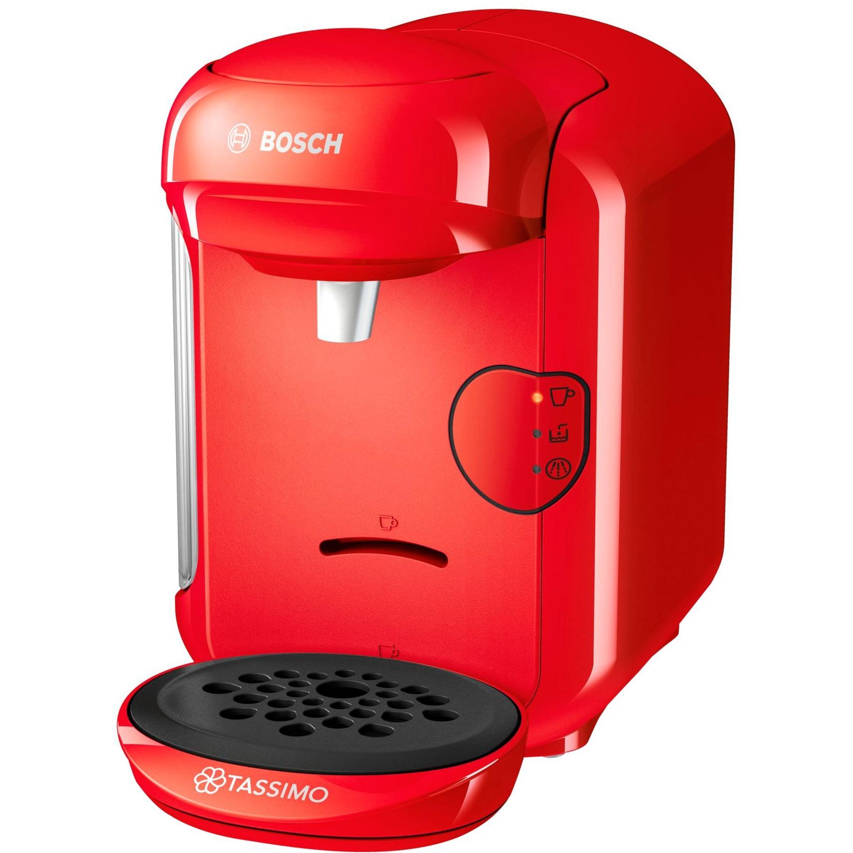 TAS1403 Independiente Totalmente automática Cafetera combinada 0.7L Rojo cafetera eléctrica, Cafetera de cápsulas