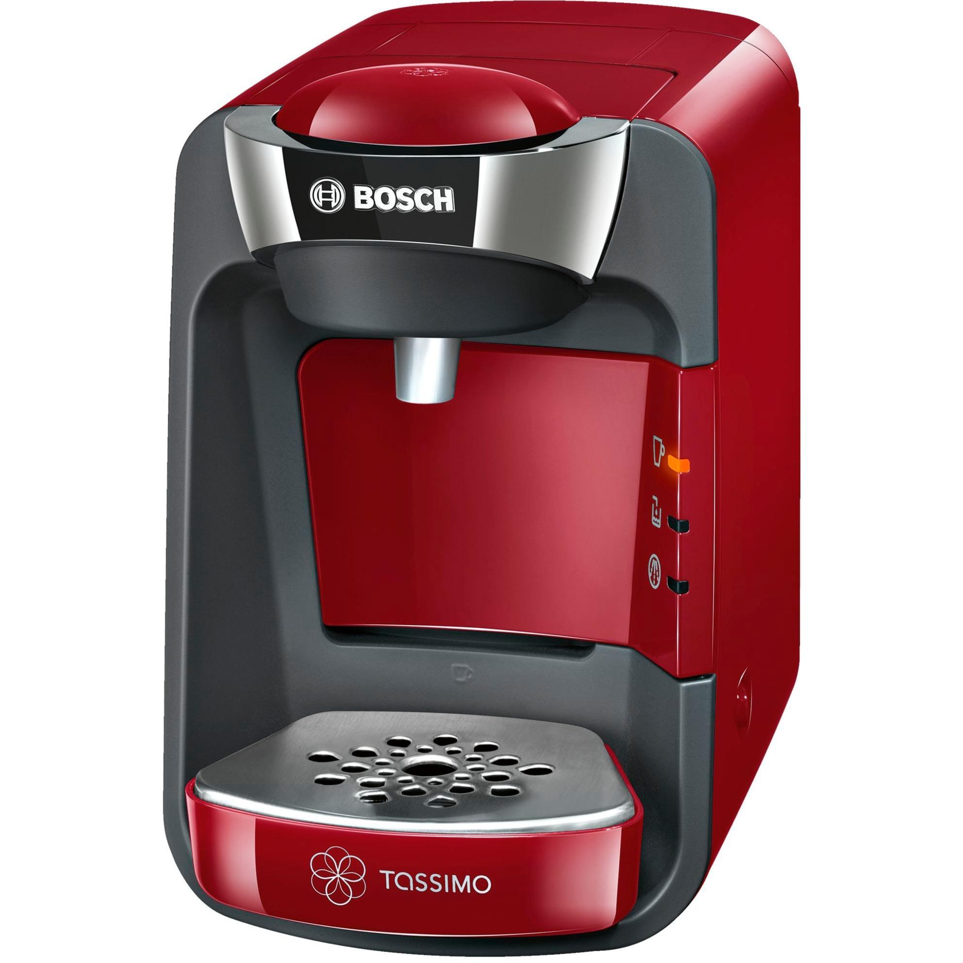 TAS3203 cafetera eléctrica Independiente Máquina de café en cápsulas Rojo 0,8 L Semi-automática, Cafetera de cápsulas