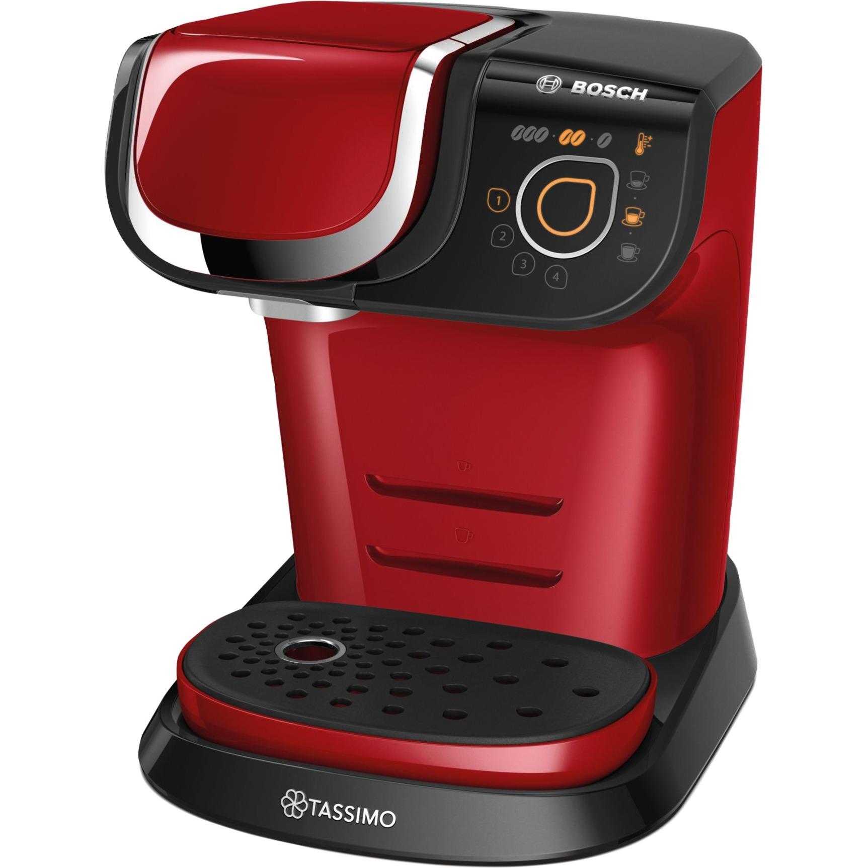 TAS6003 Independiente Máquina de café en cápsulas 1.3L Rojo cafetera eléctrica, Cafetera de cápsulas