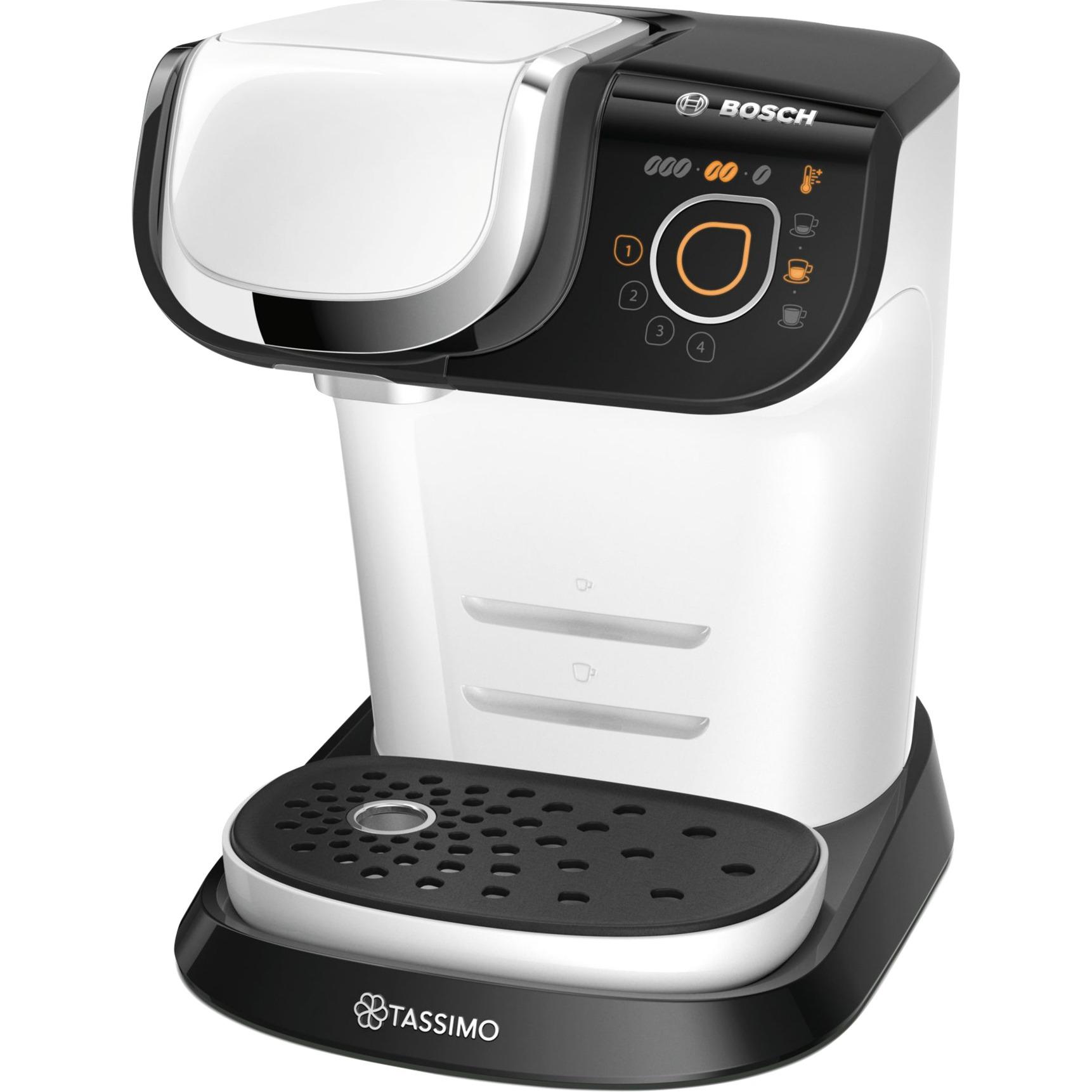 TAS6004 Independiente Totalmente automática Máquina de café en cápsulas 1.3L Blanco cafetera eléctrica, Cafetera de cápsulas