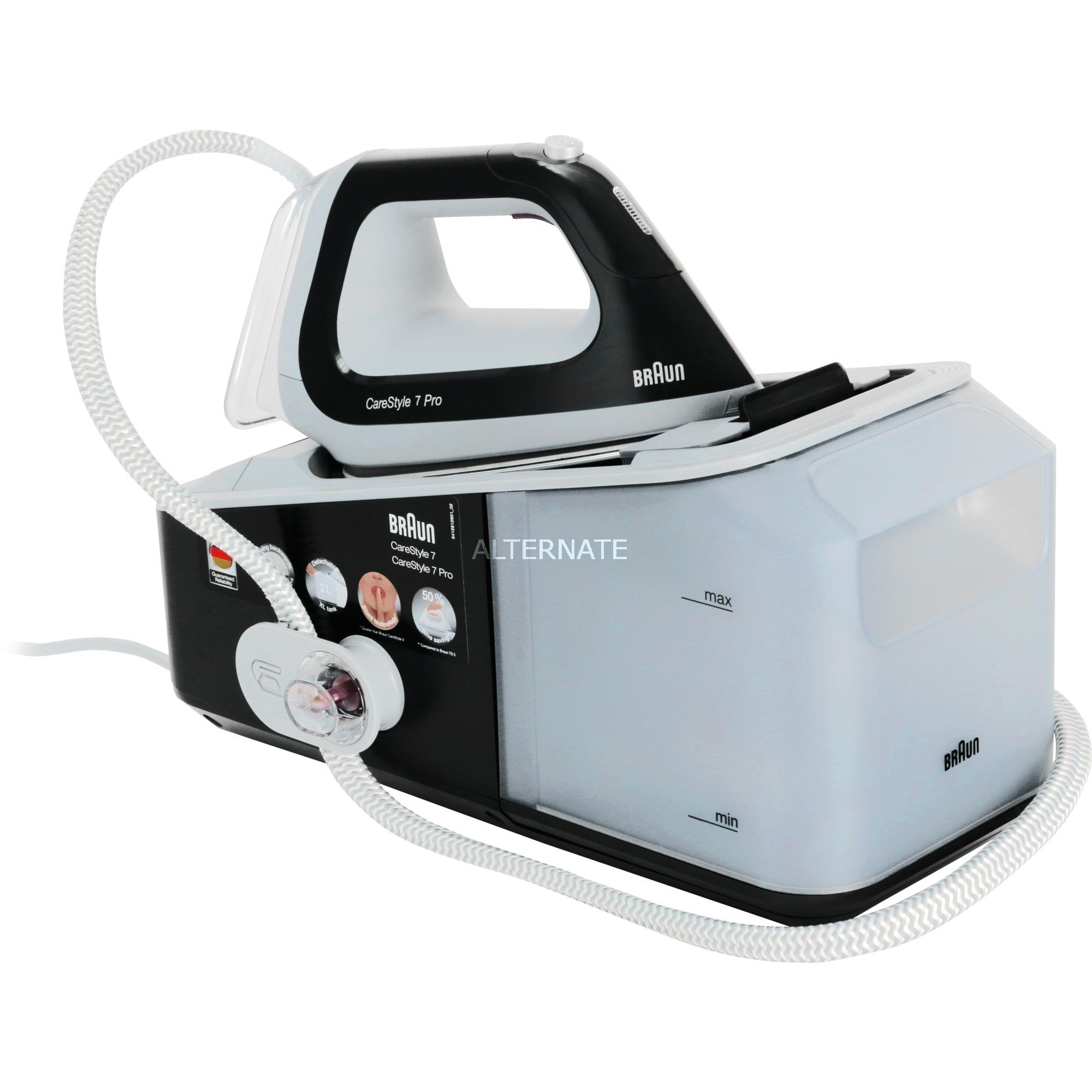 CareStyle 7 Pro IS 7056 2400 W 2 L Suela Saphir Negro, Gris, Estación de planchado a vapor
