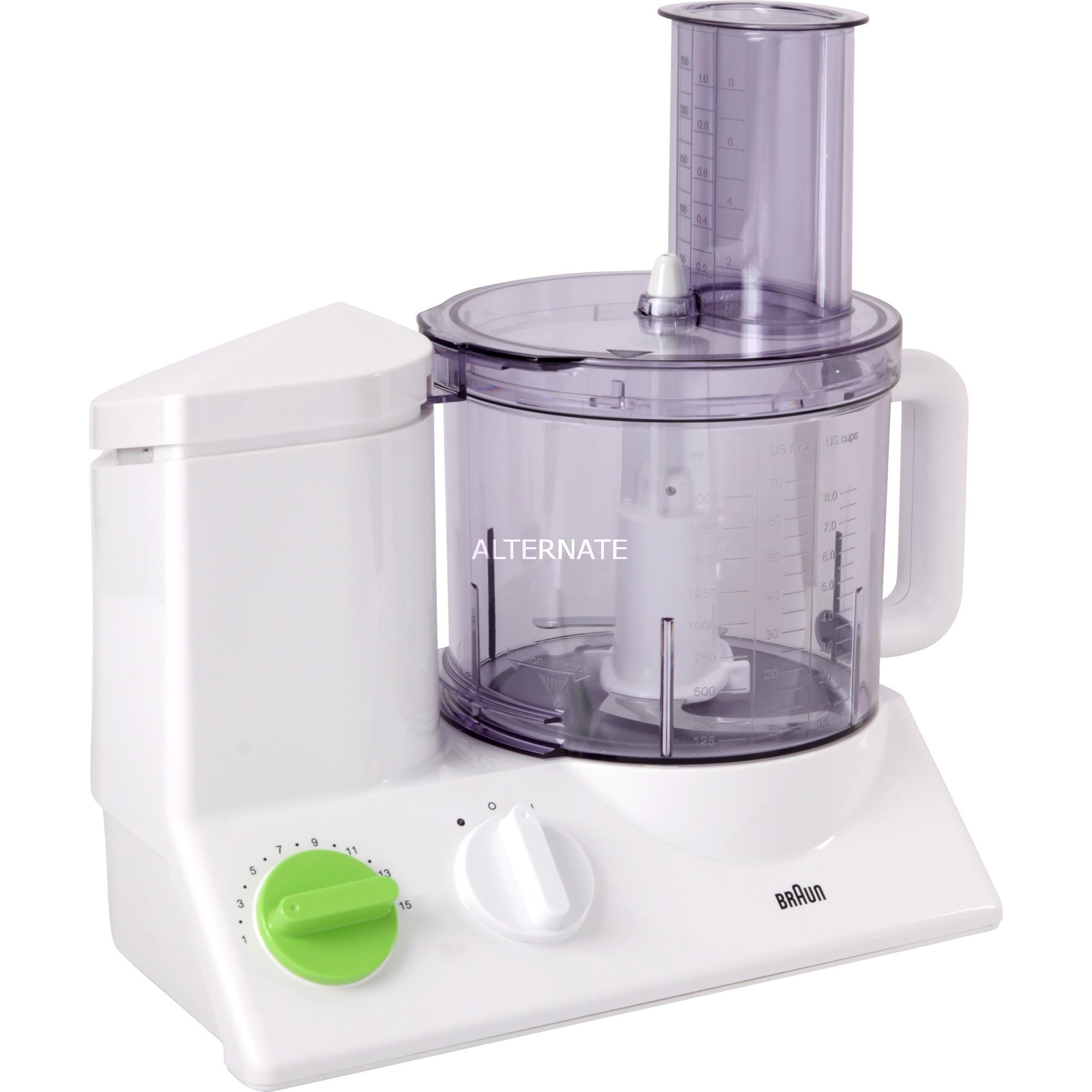 FP 3010 600W 1.75L Verde, Color blanco robot de cocina