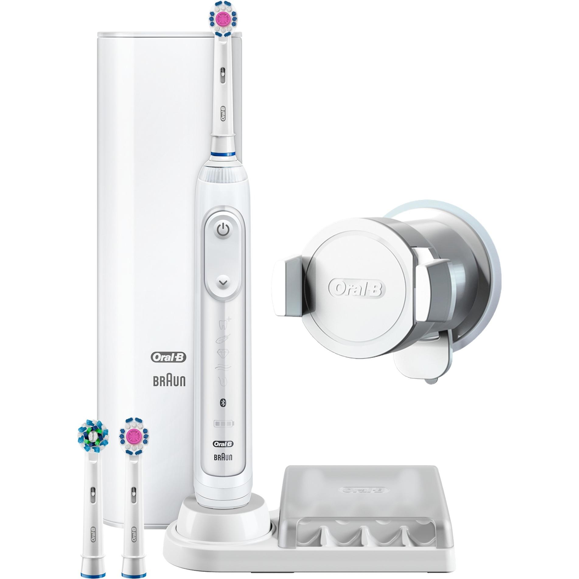 Genius 8200 Adulto Cepillo dental oscilante Blanco, Cepillo de dientes eléctrico