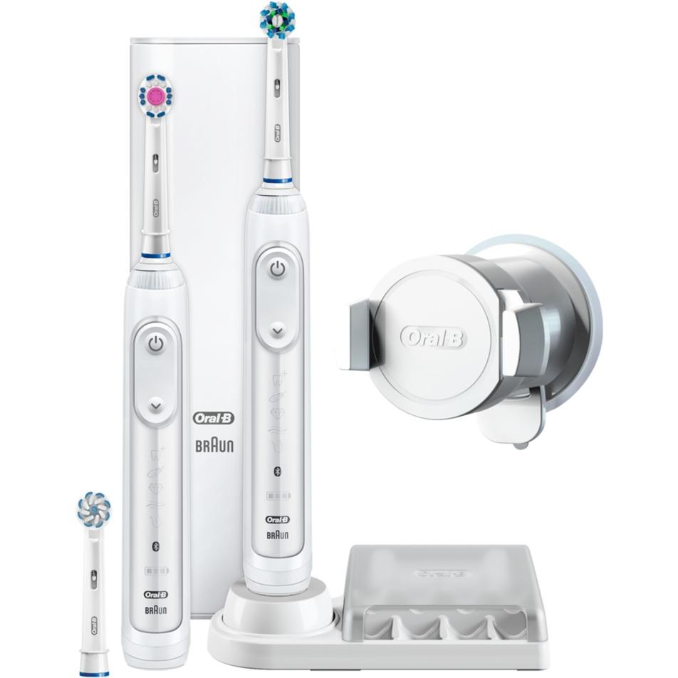 Genius 8900 CrossAction Adulto Cepillo dental oscilante Blanco, Cepillo de dientes eléctrico