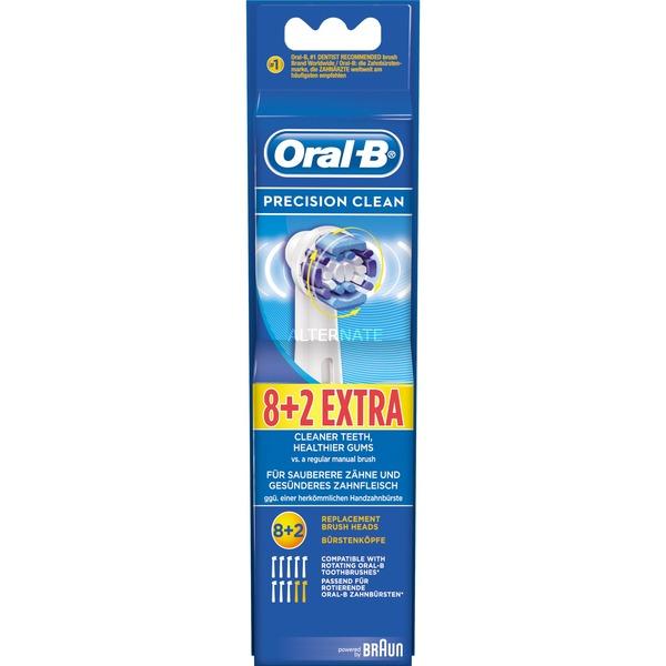 Oral-B Precision Clean cepillo de recambio 8+2, Cabezal de cepillo