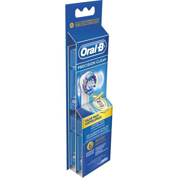 Oral-B, Precision Clean 6er 6pieza(s) Blanco, Cabezal de cepillo