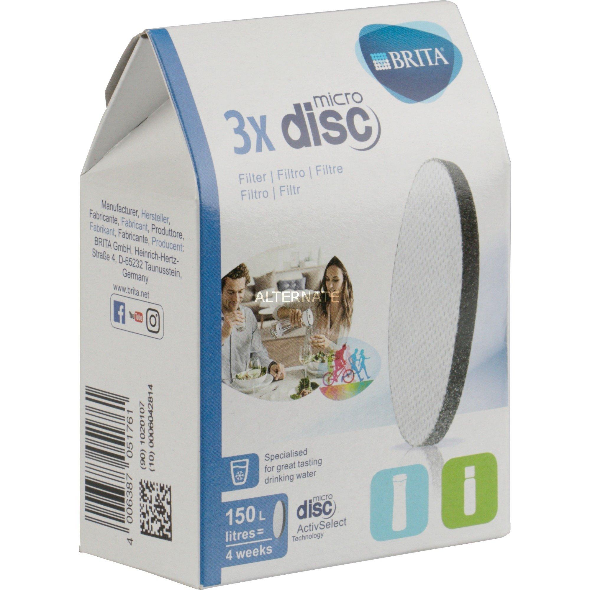 3x MicroDisc Disco 3 pieza(s), Filtro de agua