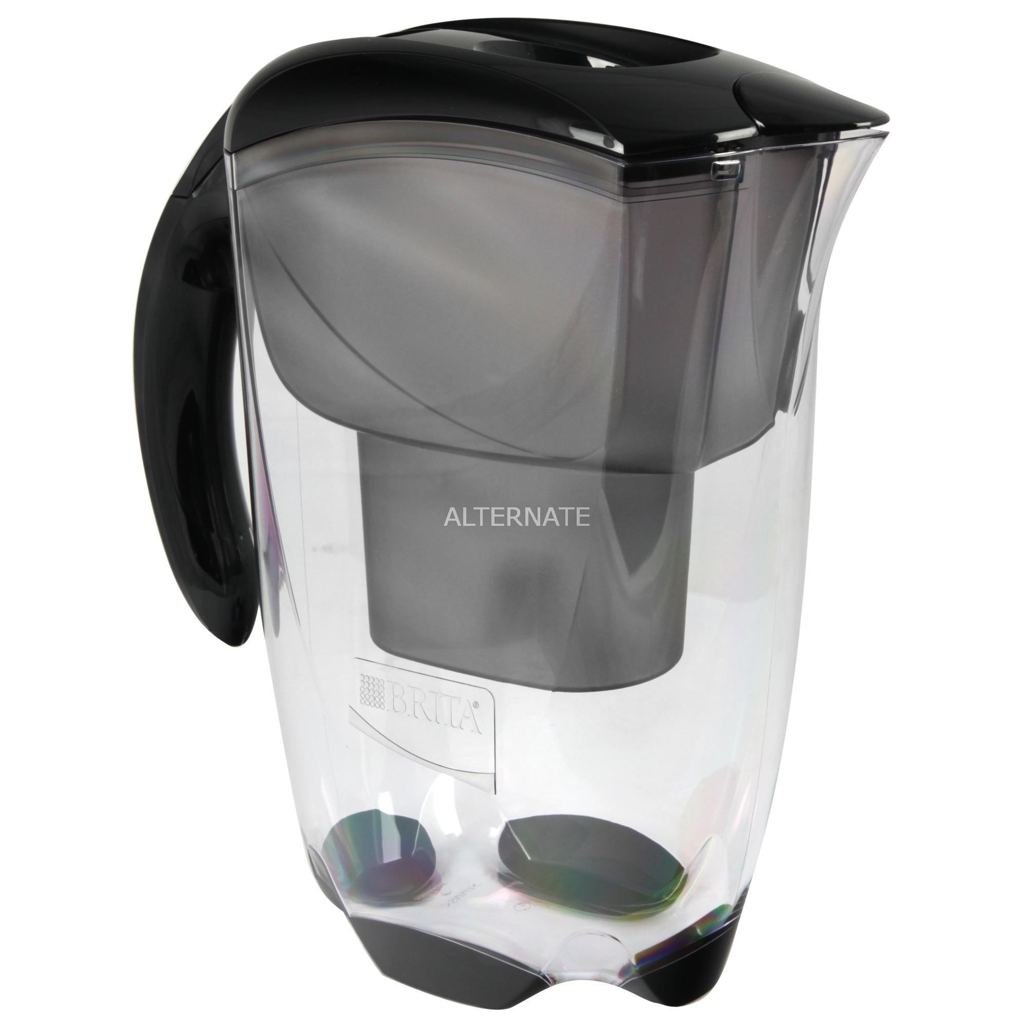 Elemaris Filtro de agua para jarra 2.4L Negro, Transparente