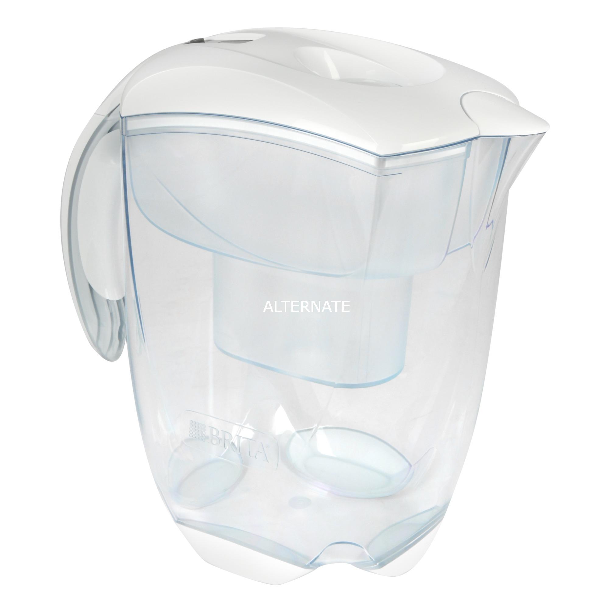 Elemaris XL Filtro de agua para jarra 3.5L Transparente, Color blanco