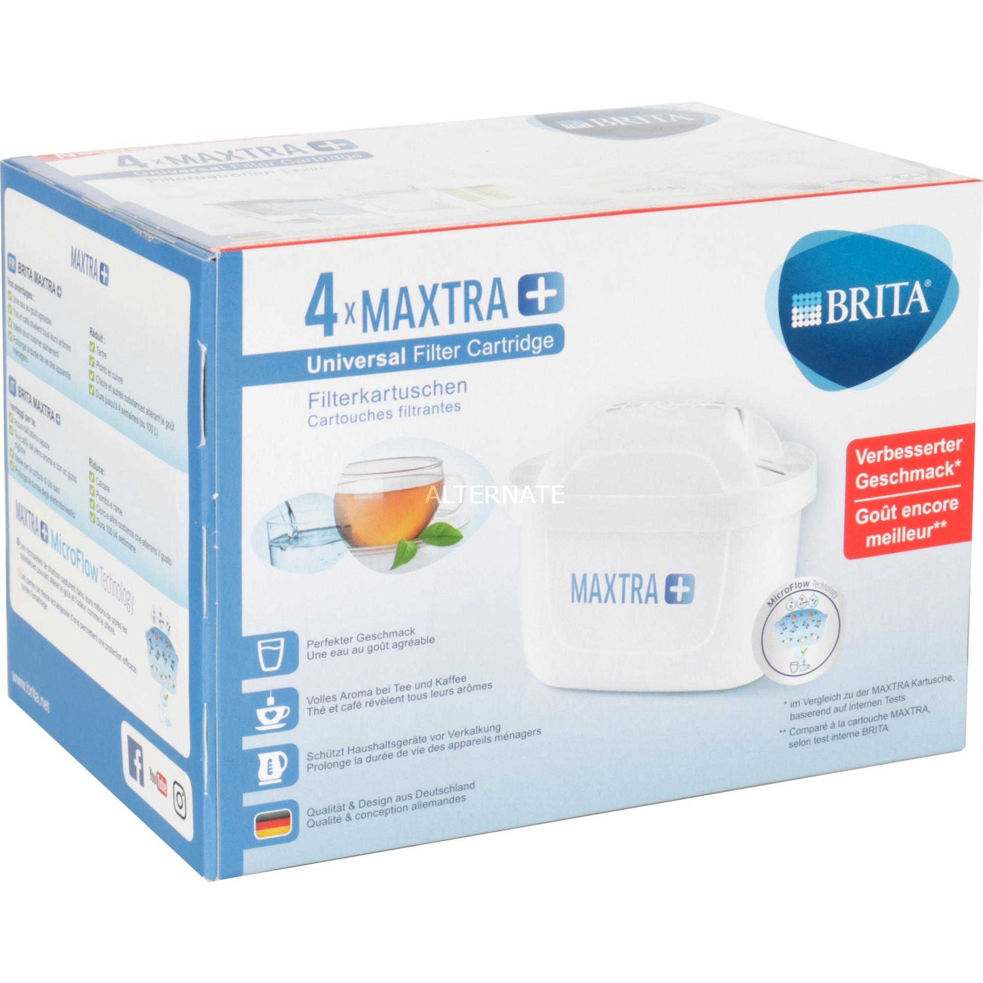 Maxtra+ 4-pack Cartucho 4 pieza(s), Filtro de agua