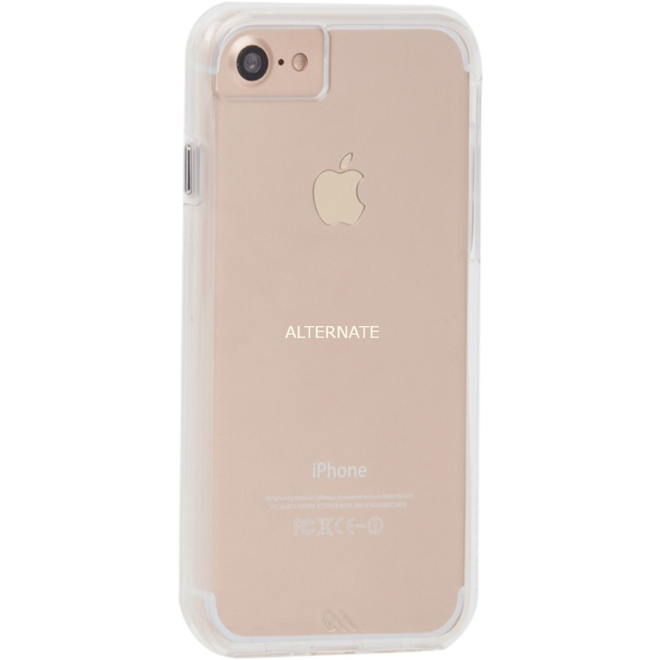 Naked Tough iPhone 8/7/6s Funda Transparente, Funda protectora