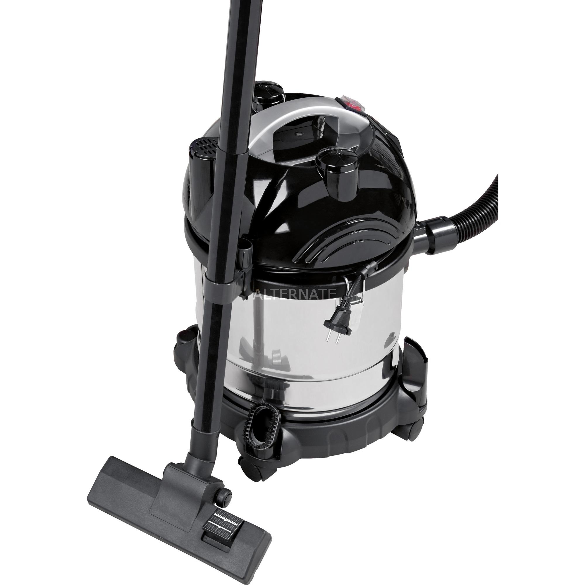 BS 1285 20L 1600W Negro, Acero inoxidable aspiradora, Aspiradora en húmedo y en seco