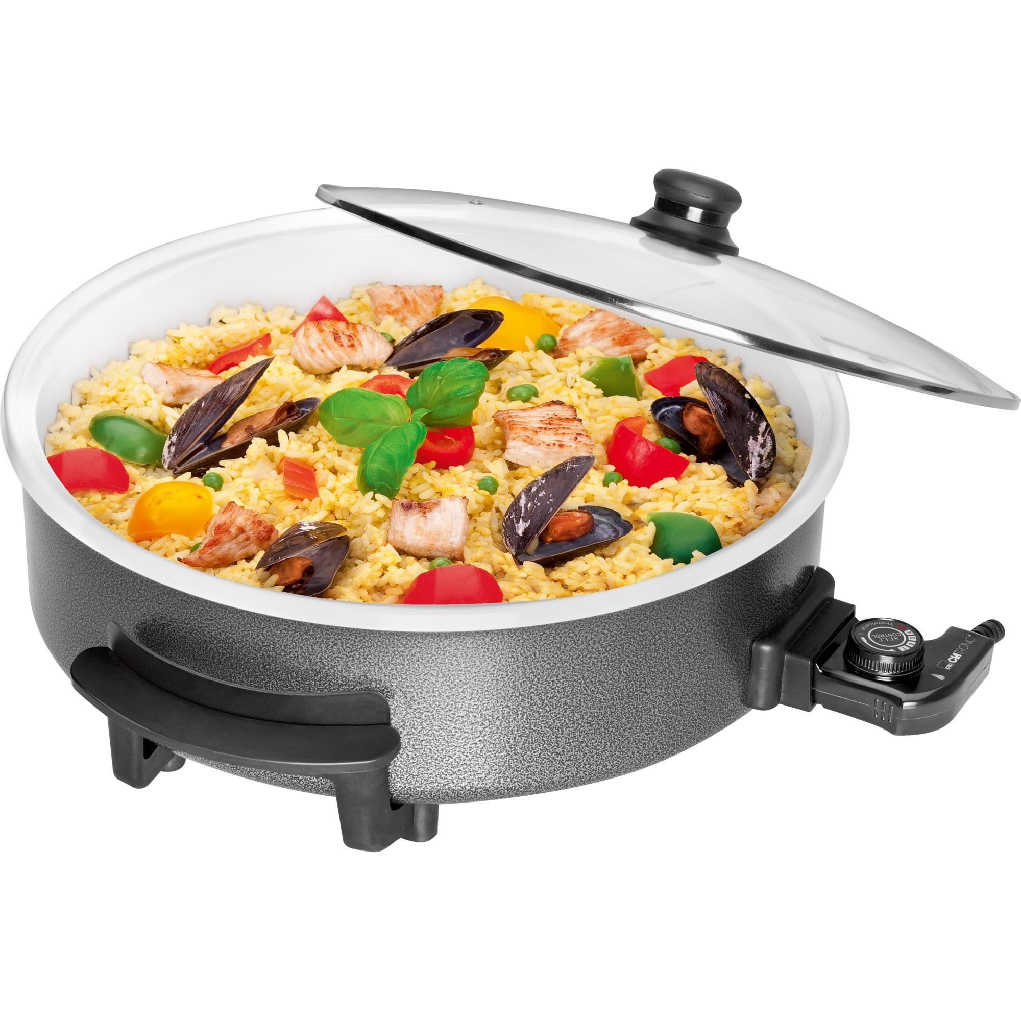 PP 3570 C 1500W Negro, Gris, Transparente, Color blanco olla multi-cocción, Pan
