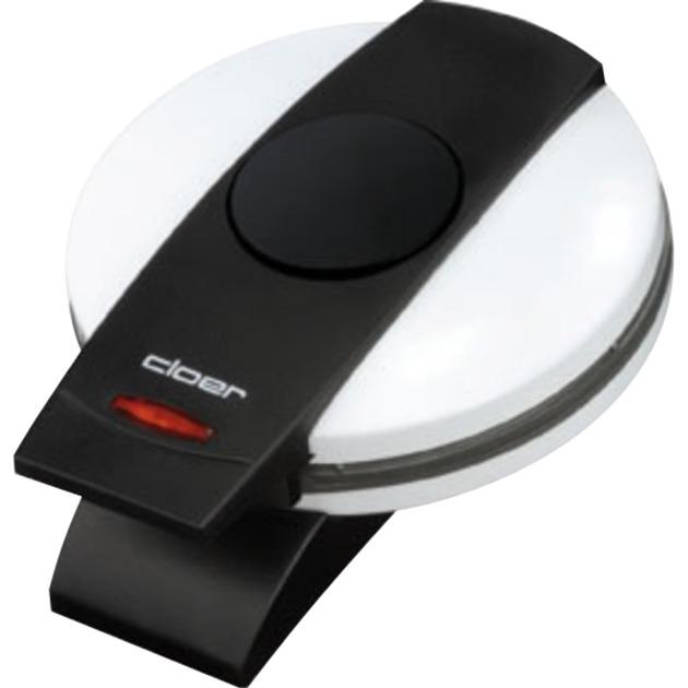 0260 1waffle(s) 800W Negro, Color blanco gofrera, Máquina para hacer barquillos